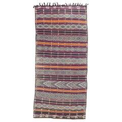 Nice Antique Long Moroccan Kilim