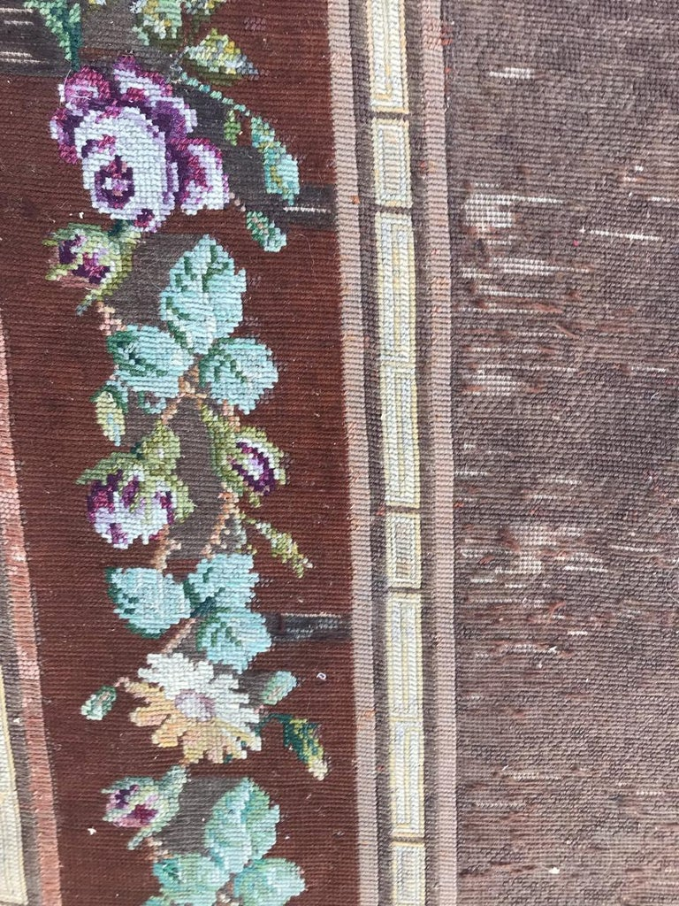 Nice Antique Needlepoint French Tapestry For Sale 1
