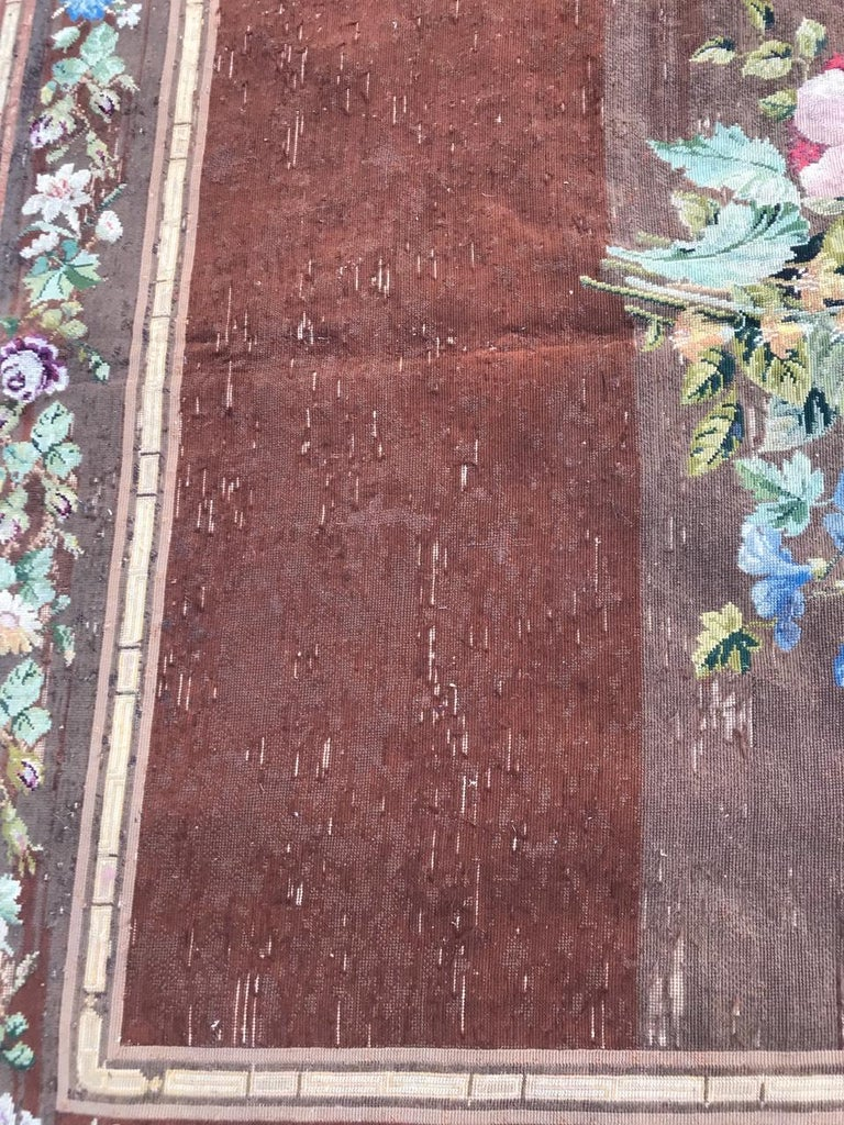Nice Antique Needlepoint French Tapestry For Sale 2