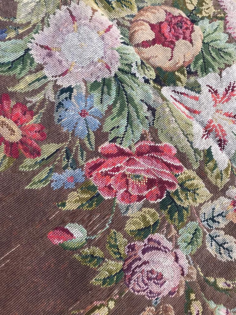 Nice Antique Needlepoint French Tapestry For Sale 3