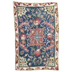 Nice Antique Portuguese Needlepoint Rug