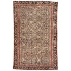 Nice Antique Silk Foundation Senneh Rug