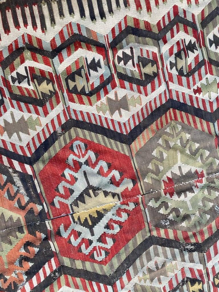 Nice Antique Turkish Long Kilim For Sale 4