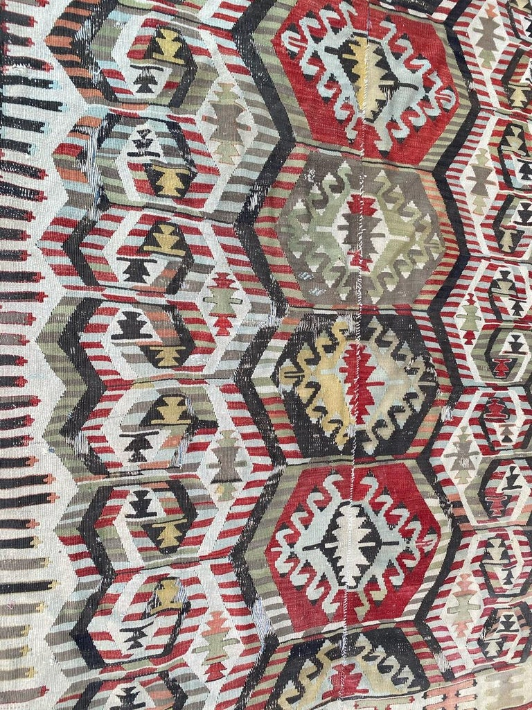 Nice Antique Turkish Long Kilim For Sale 5