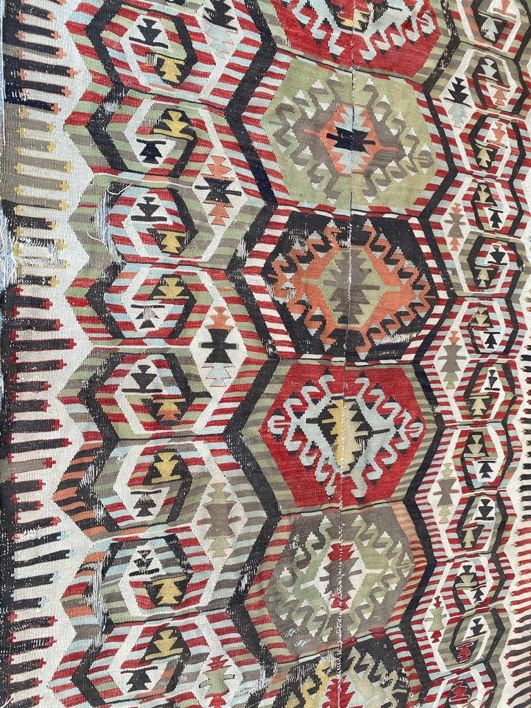 Nice Antique Turkish Long Kilim For Sale 6