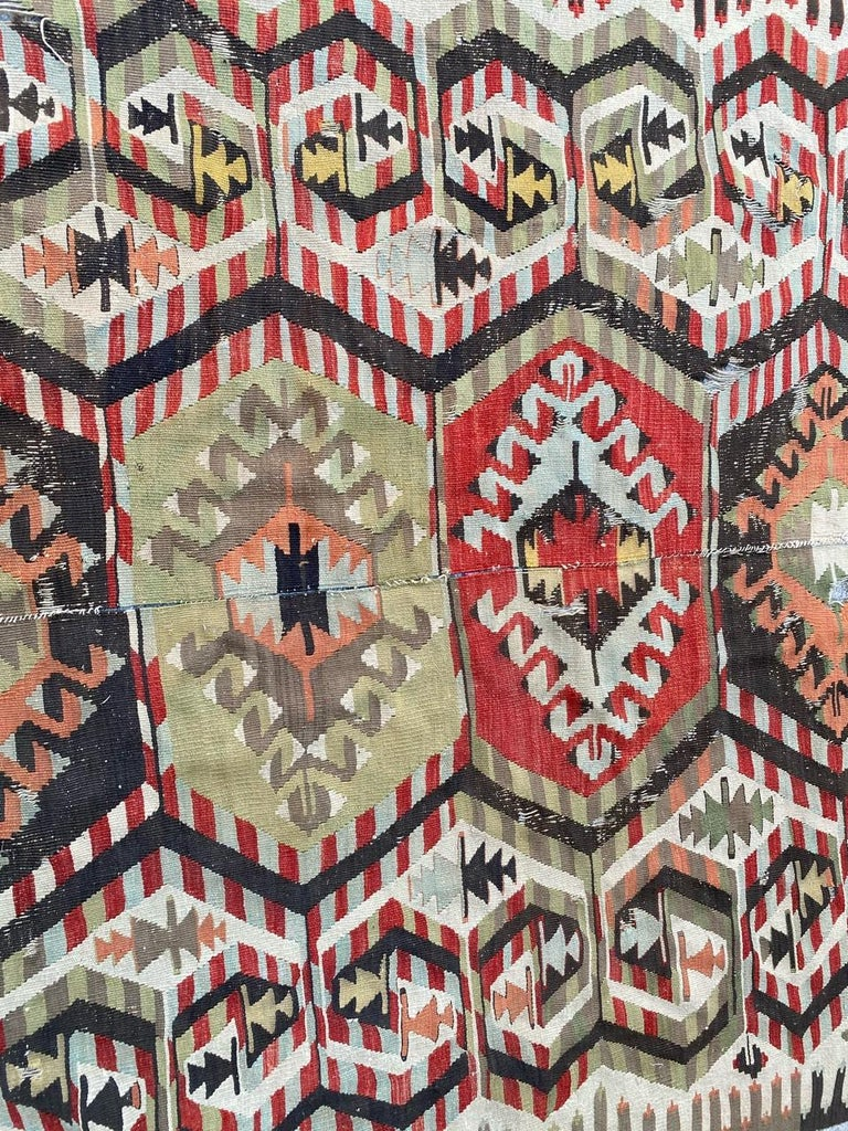 Nice Antique Turkish Long Kilim For Sale 7