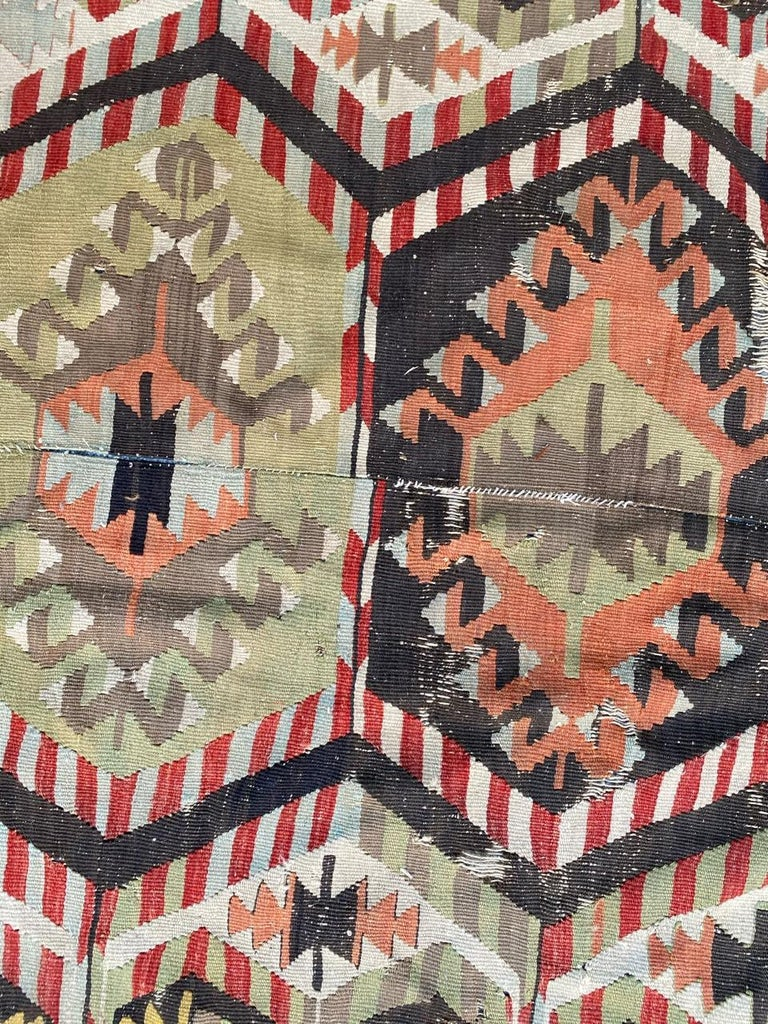 20th Century Nice Antique Turkish Long Kilim For Sale