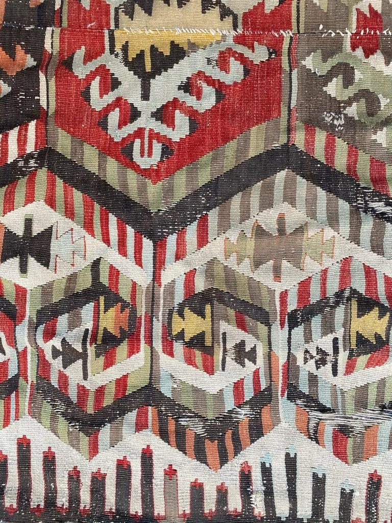 Wool Nice Antique Turkish Long Kilim For Sale