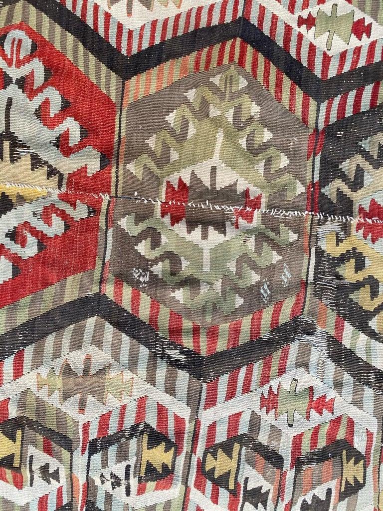 Nice Antique Turkish Long Kilim For Sale 1