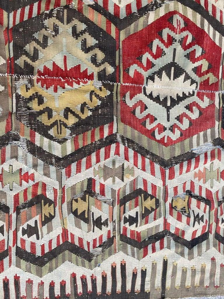 Nice Antique Turkish Long Kilim For Sale 3