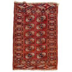 Nice Antique Turkmen Boukhara Rug