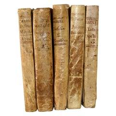 Nice Collection of 18th Century Weathered Spanish Vellum Books