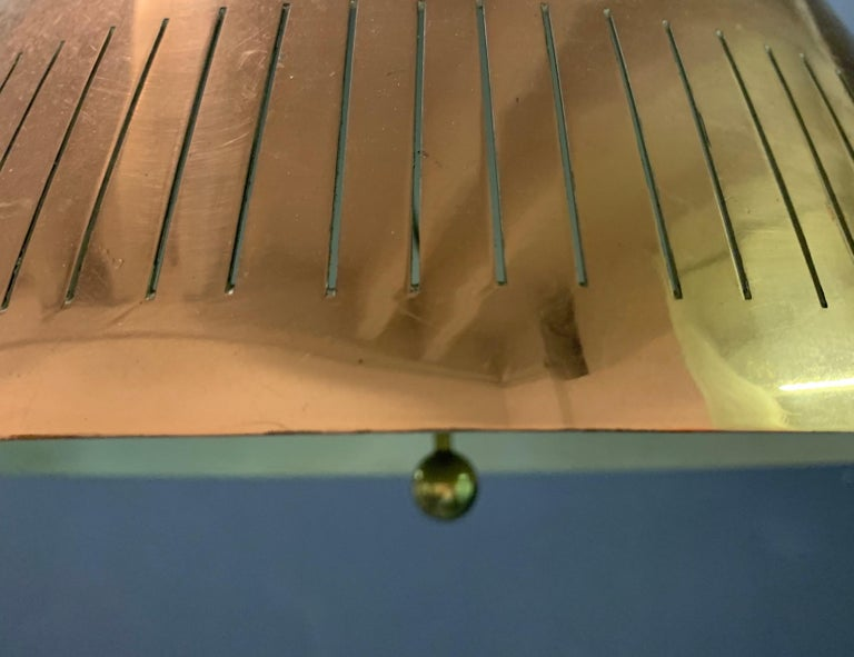 Nice Copper Ceiling Lamp Attributed to Paavo Tynell In Good Condition For Sale In Munich, DE