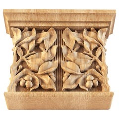 Nice Decorative Column Capital for Walls, Doors, Furniture, Interior