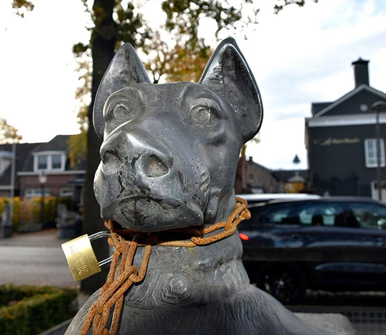 Belgian Nice Dog Statue, 20th Century For Sale