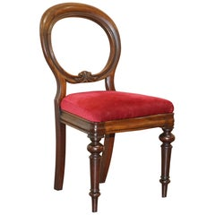 Nice Edwardian Medallion Spoon Back Chair for Dressing Table or Desk Office Use