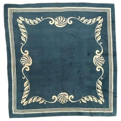 Nice French 1940 Art Deco Square Rug
