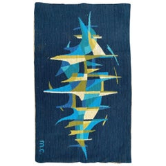 Nice French Modern Tapestry with a Design of Gilles Duvert
