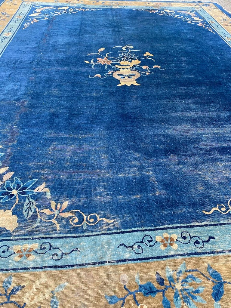 Nice Large Antique Chinese Rug For Sale 6