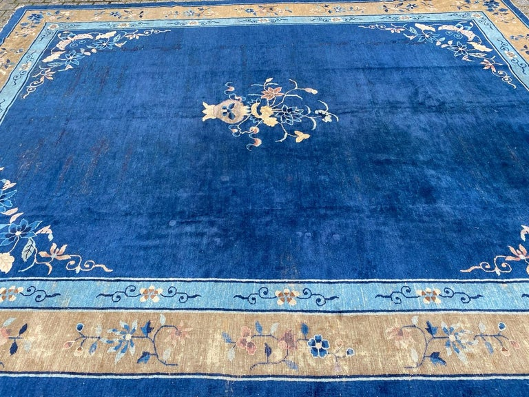 Nice Large Antique Chinese Rug For Sale 7