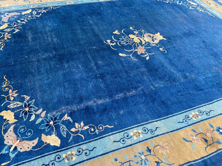 Nice Large Antique Chinese Rug For Sale 12