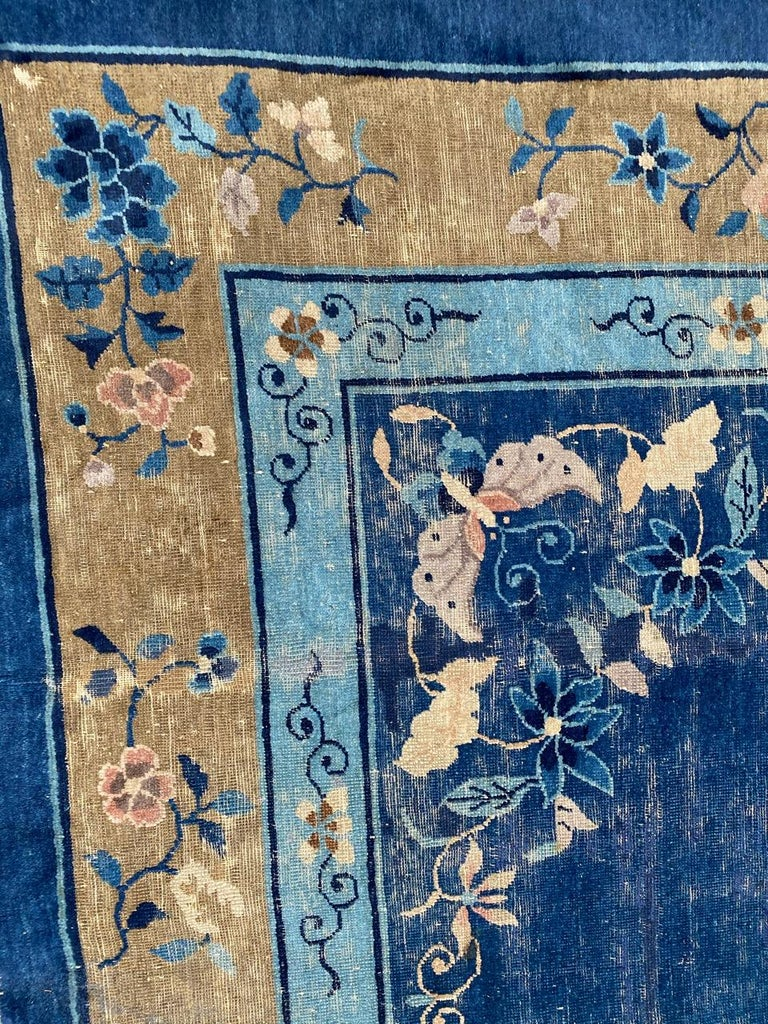 Chinoiserie Nice Large Antique Chinese Rug For Sale