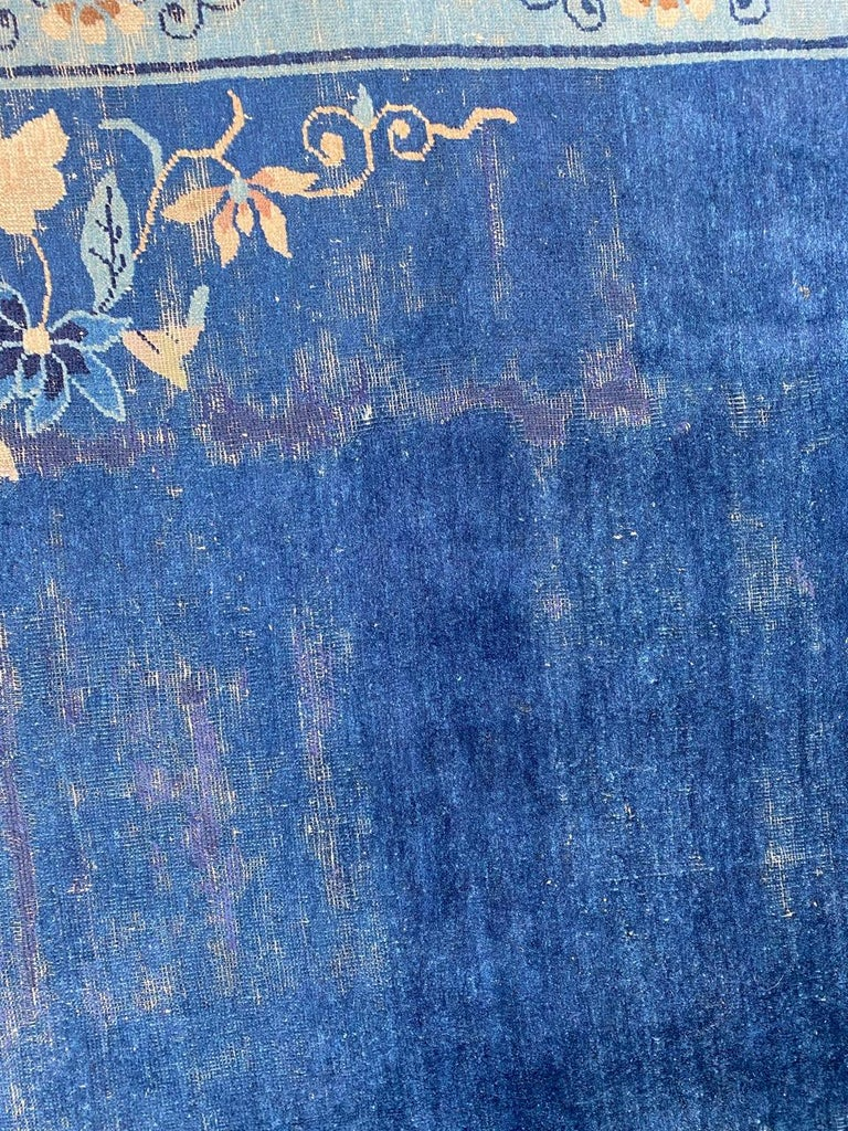 Hand-Knotted Nice Large Antique Chinese Rug For Sale