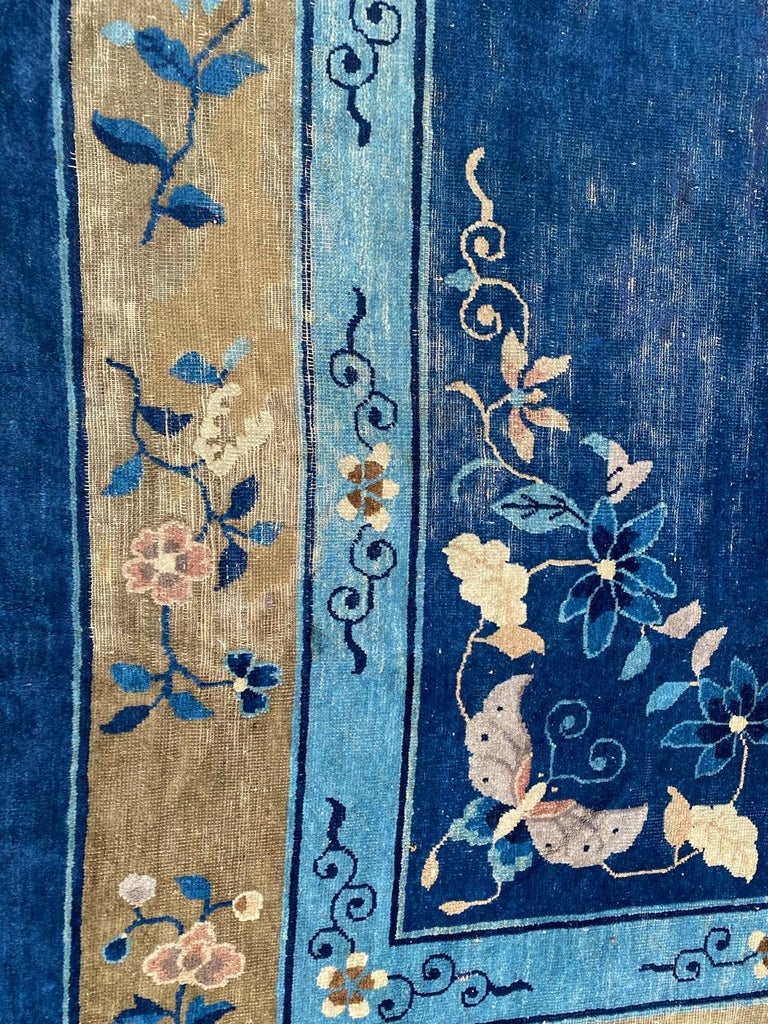 19th Century Nice Large Antique Chinese Rug For Sale