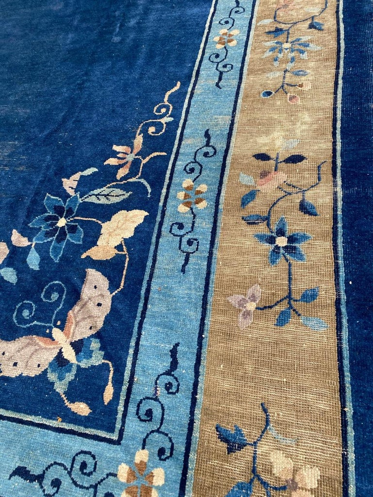 Wool Nice Large Antique Chinese Rug For Sale