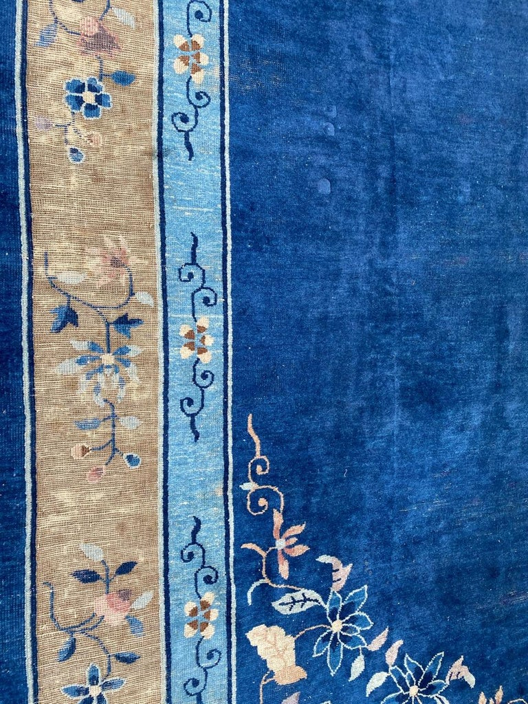 Nice Large Antique Chinese Rug For Sale 1