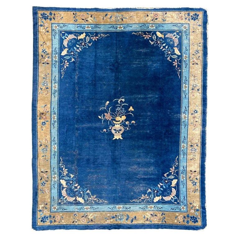 Nice Large Antique Chinese Rug For Sale