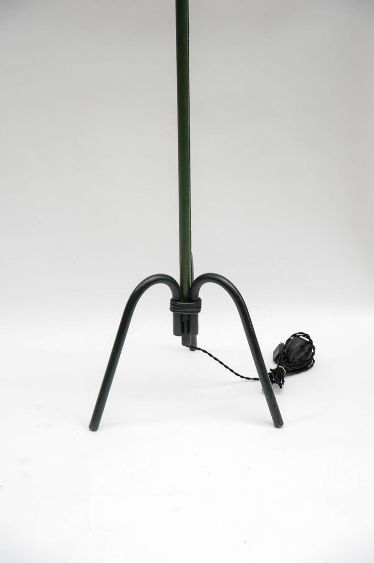 Mid-20th Century Nice Leather Floor Lamp by Jacques Adnet For Sale