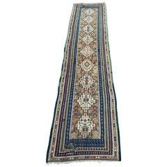 Nice Long Antique Senneh Kurdish Runner Kilim