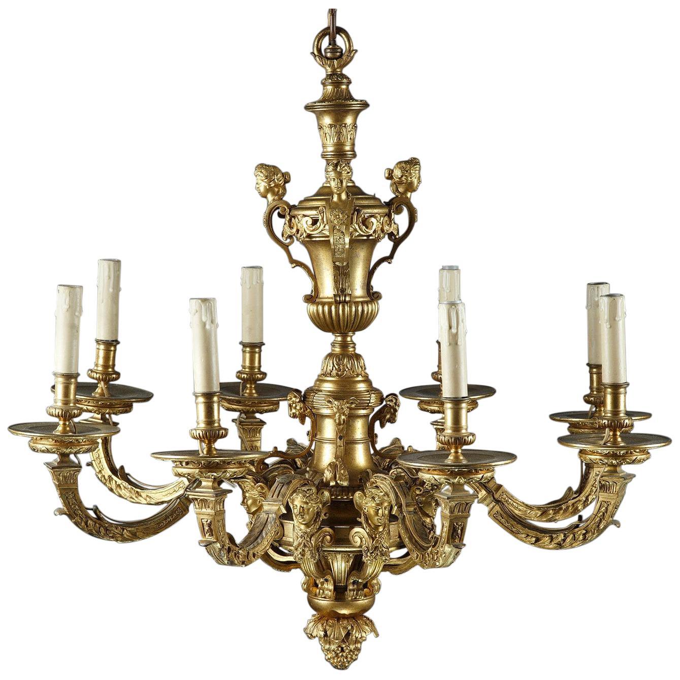 """Nice """"Mazarin"""" Gilt Bronze Chandelier"""