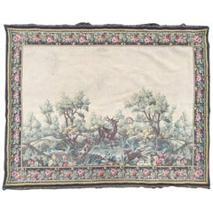 Nice Mid-20th Century French Aubusson Style Jaquar Tapestry
