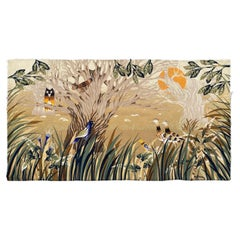 Nice Mid Century Modernist French Hand Printed Tapestry