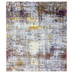 Nice Modern Abstract Design Knotted Rug