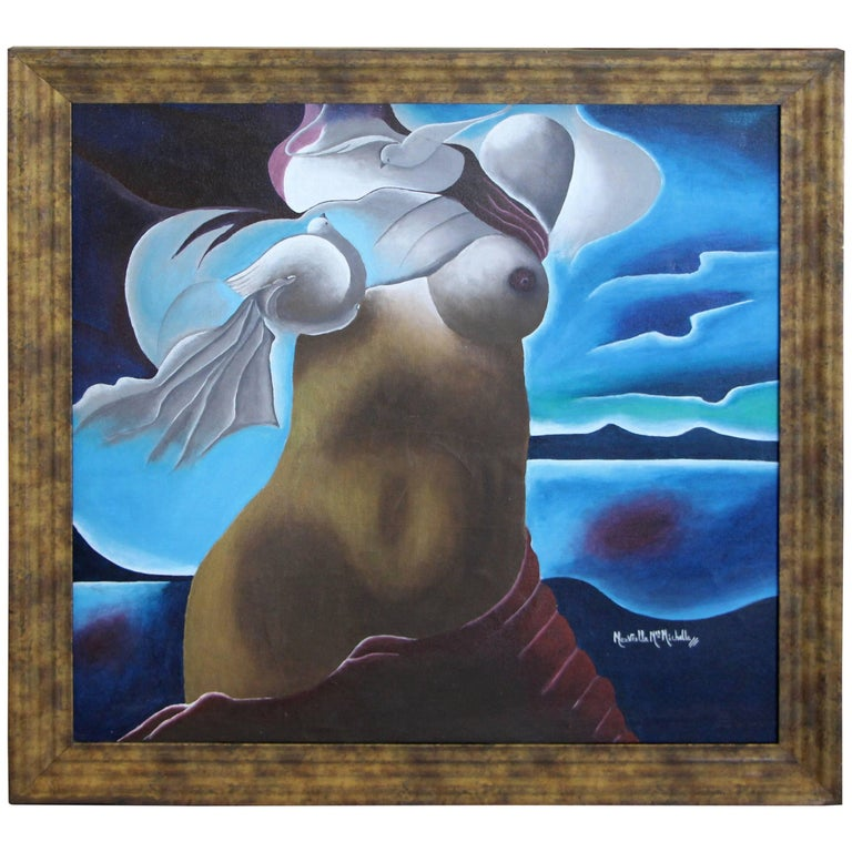 Nice Painting of a Nude Signed For Sale