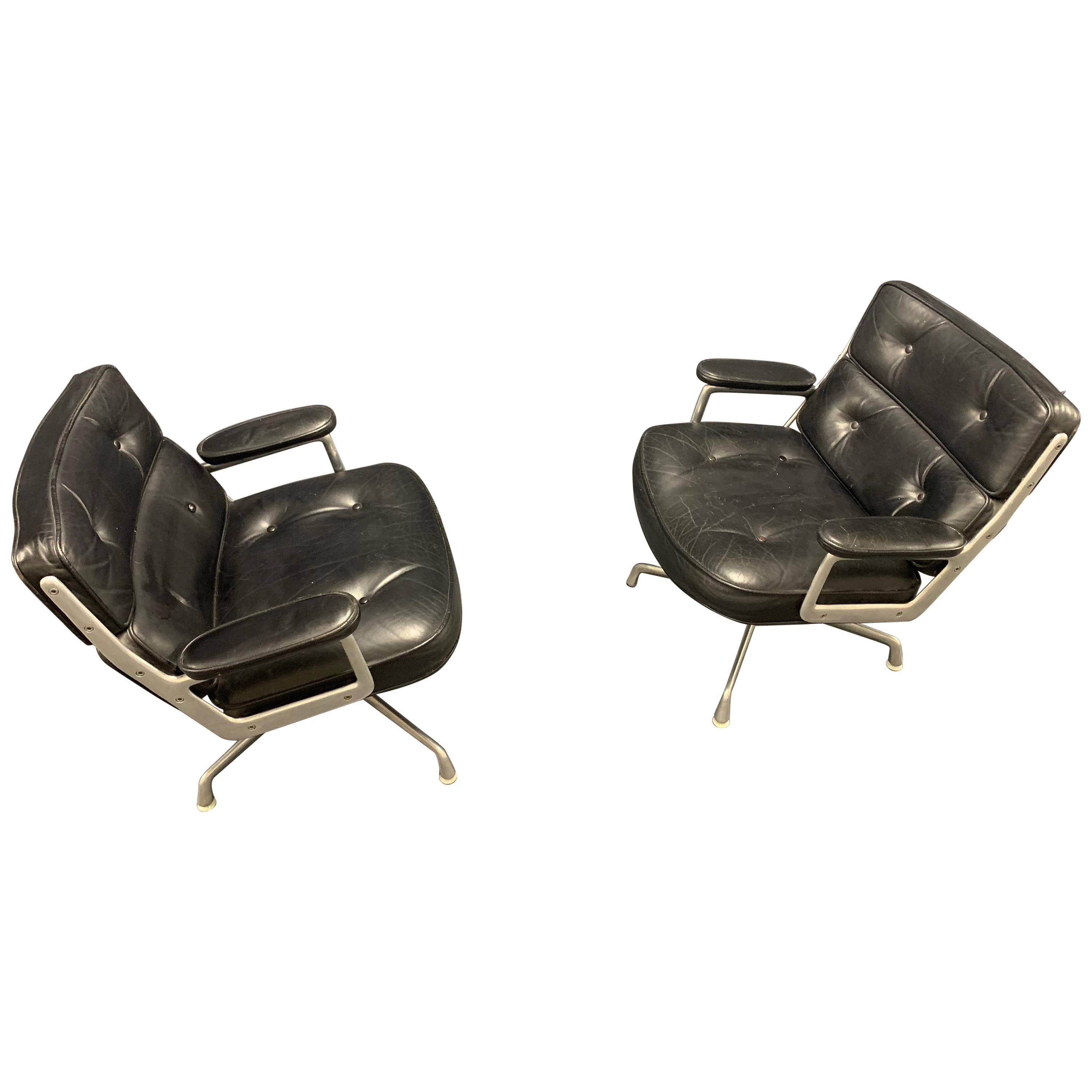 Nice Pair of Charles Eames Lobby Chairs