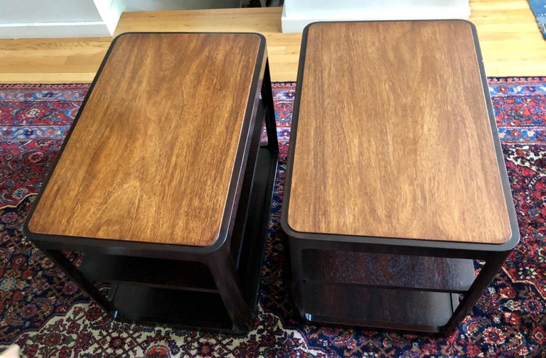 Nice Pair of Dunbar Side Tables by Edward Wormley For Sale 3