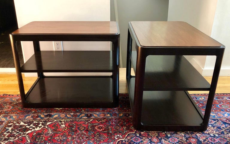 Mid-Century Modern Nice Pair of Dunbar Side Tables by Edward Wormley For Sale