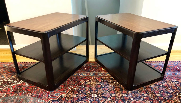 American Nice Pair of Dunbar Side Tables by Edward Wormley For Sale
