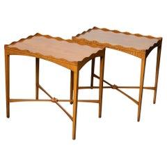 Nice Pair of Edwardian Satinwood Side Tables