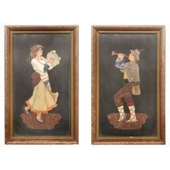 Nice Pair of Late 19th-Early 20th Century Italian Pietra Dura Plaques