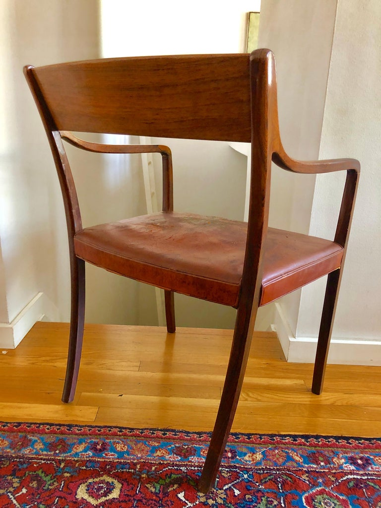 Nice Pair Ole Wanscher Rosewood Armchairs for AJ Iversen For Sale 6