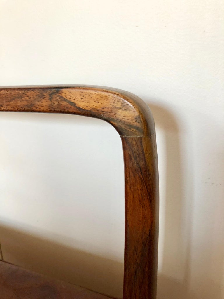 Nice Pair Ole Wanscher Rosewood Armchairs for AJ Iversen In Good Condition For Sale In Hudson, NY
