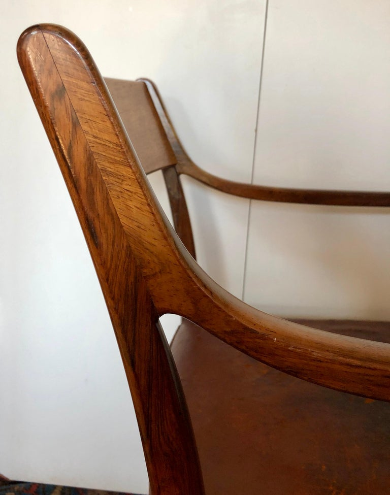 Nice Pair of Ole Wanscher Rosewood Armchairs for AJ Iversen For Sale 1