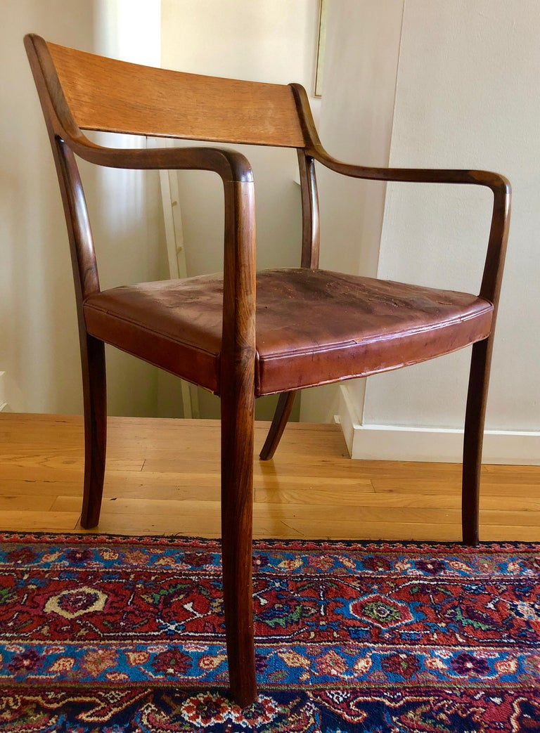 Nice Pair Ole Wanscher Rosewood Armchairs for AJ Iversen For Sale 2