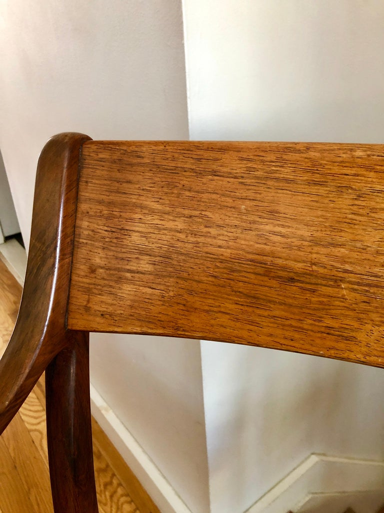 Nice Pair Ole Wanscher Rosewood Armchairs for AJ Iversen For Sale 3