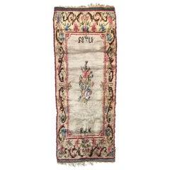 Nice Swedish Runner Rug, 18th Century Antique Rugs Design, Scandinavian Carpets